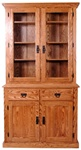 "44"" x 84"" x 20"" Oak Mission Hutch (Two Doors)"