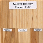 Natural Hickory Wood Samples
