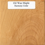 Oil and Wax Maple Wood Sample