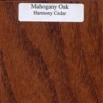 Mahogany Oak Wood Sample