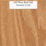 Oil and Wax Oak Wood Sample
