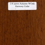 Quarter Sawn White Oak Wood Sample, Autumn Finish