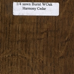 Quarter Sawn White Oak Wood Sample, Burnt Finish