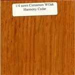 Quarter Sawn White Oak Wood Sample, Cinnamon Finish