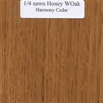 Quarter Sawn White Oak Wood Sample, Honey Finish
