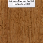 Quarter Sawn White Oak Wood Sample, Medium Finish