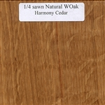 Quarter Sawn White Oak Wood Sample, Natural Finish