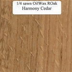 Quarter Sawn White Oak Wood Sample, Oil and Wax Finish
