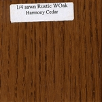 Quarter Sawn White Oak Wood Sample, Rustic Finish