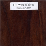 Oil and Wax Walnut Wood Sample