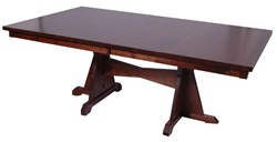 "100"" x 46"" Quarter Sawn Oak Colonial Dining Room Table"