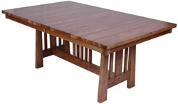 "100"" x 46"" Quarter Sawn Oak Eastern Dining Room Table"