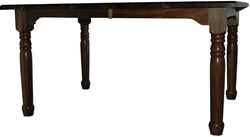 "100"" x 46"" Walnut Farmhouse Dining Room Table"