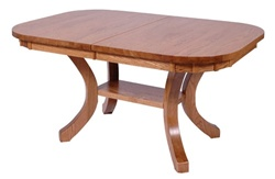 "100"" x 46"" Hickory Montrose Dining Room Table"