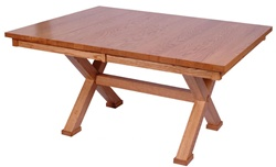 "100"" x 42"" Mixed Wood Railroad Dining Room Table"
