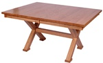 "50"" x 32"" Oak Railroad Dining Room Table"