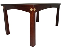 "100"" x 42"" Walnut Shaker Dining Room Table"