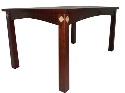 60 x 42 walnut shaker dining room table for Dining room table 42 x 60