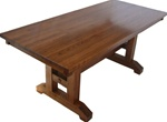 "50"" x 42"" Oak Trestle Dining Room Table"