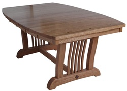 "100"" x 42"" Oak Western Dining Room Table"