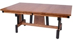 "50"" x 42"" Mixed Wood Zen Dining Room Table"