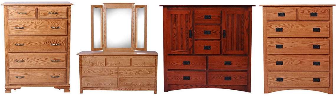 Handcrafted Solid Hardwood Amish Dressers