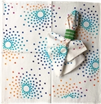 Rainbow Stars Napkins. Set of 6.