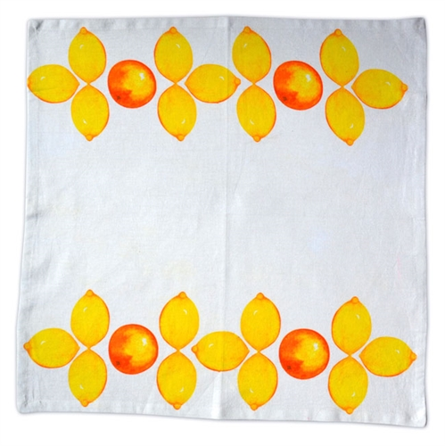 Citrus Napkins. Set of 6.