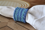 Blue Beaded Napkin Ring Set