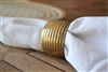 Gold Textured Napkin Ring Set