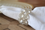 Clear Crystal and Silver Napkin Ring Set