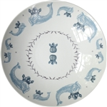 Duet Porcelain Coupe Serving Bowl, Azure