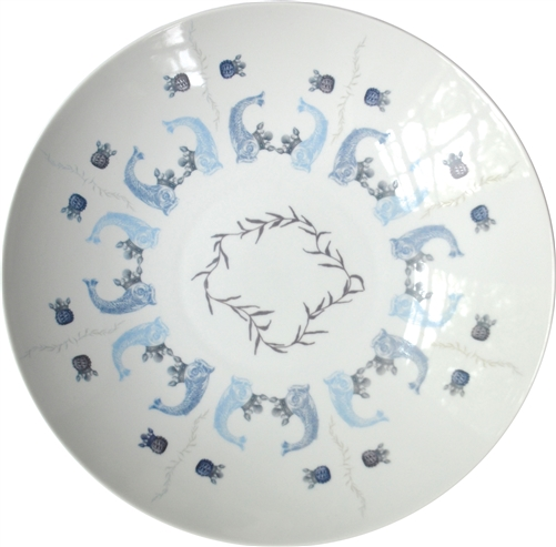 Royal Court Large Porcelain Coupe Serving Bowl, Azure