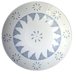 Large Porcelain Coupe Serving Bowl, Sunburst