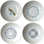 Small Porcelain Coupe Bowls, Gems