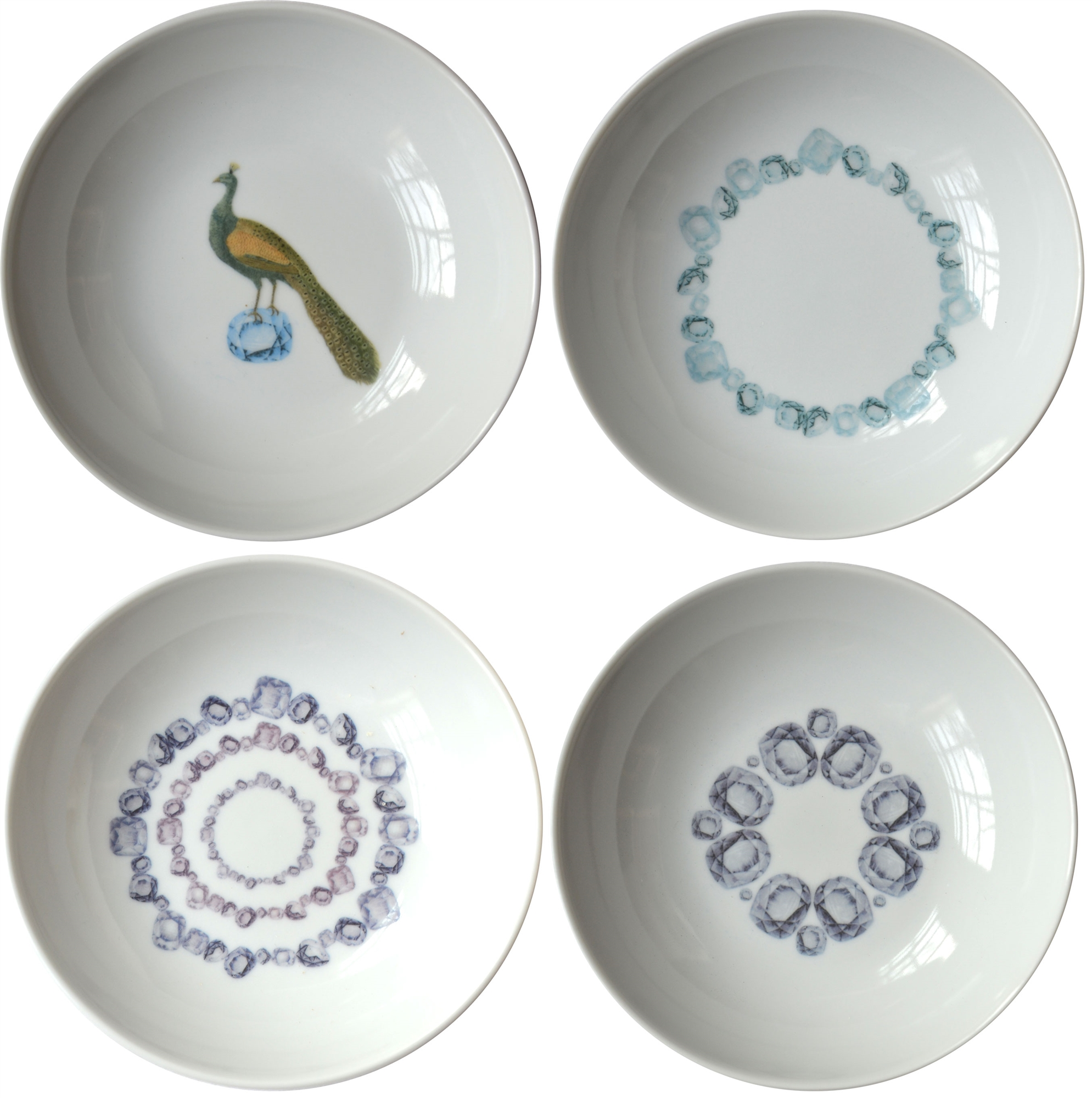 Gems Small Porcelain Coupe Bowls