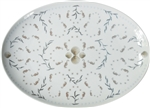 Large Porcelain Coupe Serving Platter, Horsea