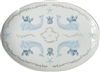Duet Large Porcelain Coupe Serving Platter, Azure