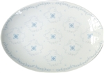Medium Porcelain Coupe Serving platter, Rosette