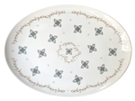 Garden Party Large Porcelain Coupe Serving Platter