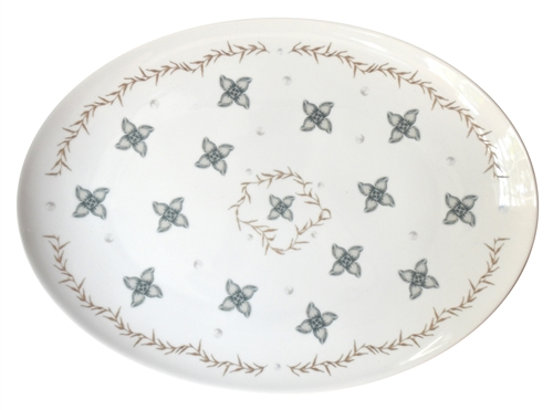 Large Porcelain Coupe Serving platter, Garden Party