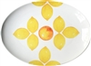 Citrus Large Porcelain Coupe Serving Platter