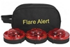 FLARE ALERT BEACON PRO KIT - 3 PACK - RED OR YELLOW