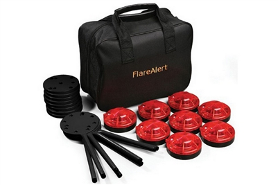 FLARE ALERT PRO ACCESSORY KIT - 8 PACK - RED OR YELLOW