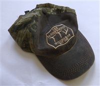 TTW Hat Weathered Brown Cotton Twill Front and Camo Back