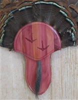 Cedar Turkey Fan Beard Mounting Kit with Carved Tracks - 02