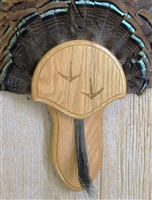 Medium Oak Turkey Fan Beard Mounting Kit with Carved Tracks - 02
