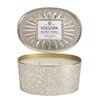 Voluspa Blond Tabac Oval Tin Candle