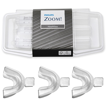 Philips Zoom Nitewhite 16% Teeth Whitening Gel 3 Pack Combo With Trays