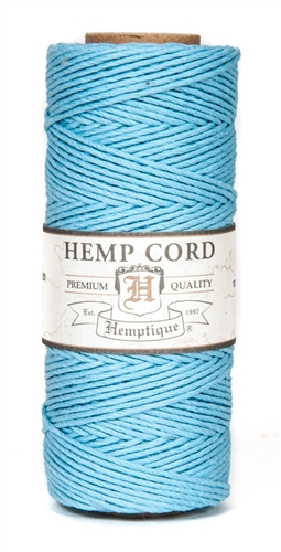 HS20CO-LtBlue-20lbs Hemp Cord